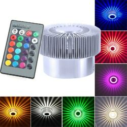5W Modern LED Sunflower Wall Ceiling Light Sconce Lamp Fixture Decor Bright RGB