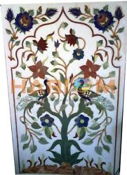 4and039x2and039 Marble Dining Table Top Seni Precious Peacock Inlay Interior Decors W369