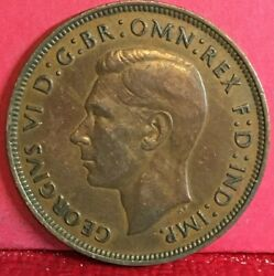 1948 Great Britain King George Vi Bronze One Penny
