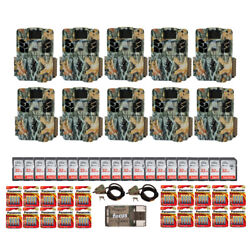 Browning Trail Cameras 18mp Dark Ops Apex Ten-pack Bundle With Accessories