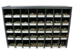 3,765 Piece Grade 8 Coarse Thread Nut Bolt And Washer Assortment With Metal Bin