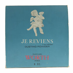 Worth 'je Reviens' Dusting Powder 8oz/226g New In Box