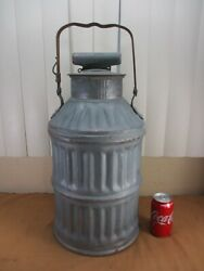 Antique 5 Gallon Oil Can Standard Oil Embossed Letters Gas Service Station Decor