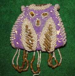 Late 1800's - 1900's Native American Indian Iroquois Beaded Whimsey Purse/ Pouch