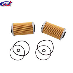 2x Kits Oil Filter And Oring Fit For Seadoo Gti Gts Se Gtx Rxp Rxt 130 185 255 260