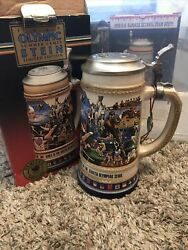 Budweiser Olympic Beer Steins Seoul Summer Games 1988 Limited Edition Gerz