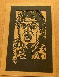 Tyler Stout Laser Cut - Fright Night Radiation Burn Signed And Numbered Rare
