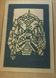 Tyler Stout Laser Cut Gillman Monster Radiation Burn Signed And Numbered Rare