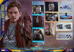 1/6 Hot Toys Mms421 Guardians Of The Galaxy Vol.2 Star-lord Deluxe Version
