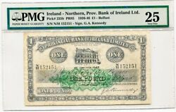 1936-46 Northern Ireland Provincial Bank Of Ireland Andpound1 One Pound Note Pmg Vf25
