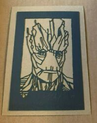 Tyler Stout Laser Cut Groot Marvel Disney Gotg Radiation Burn Signed And Numbered