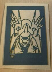 Tyler Stout Laser Cut Pale Man Labyrinth Radiation Burn Signed And N Limited To 40