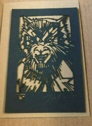 Tyler Stout Laser Cut Wolfman Universal Radiation Burn Signed And N Limited To 40