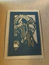 Tyler Stout Laser Cut Fauno Radiation Burn Signed And Numbered Limited To 40