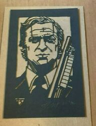 Tyler Stout Laser Cut Get Carter Radiation Burn Signed And Numbered Limited 40