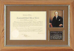 Woodrow Wilson - Diplomatic Appointment Signed 07/28/1915 With Co-signers