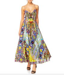 New Camilla Inside My Mind Long Dress With Tie Front Rrp 749