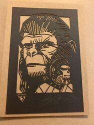 Tyler Stout Laser Cut Planet Of The Apes Radiation Burn Signed And Numbered Rare