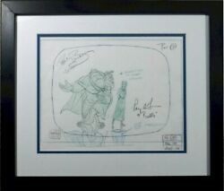 Disney Beauty Beast Production Drawing Signed Voice Paige Oand039hara Robby Benson