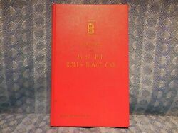 Genuine Rolls-royce Owners Handbook For 20-25 H.p. Cars Condensed Edition