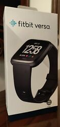 Fitbit Versa Smartwatch Black Small And Large Wristbands Sizes Brand New