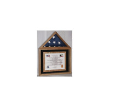 American Flag And Certificate Flag Display Case Shadow Box