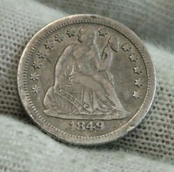 1849 O Seated Liberty Dime 10c - Nice Coin, Key Date 300,000 Minted 9831