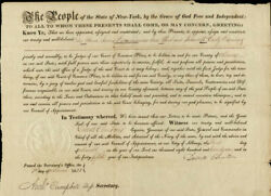 Dewitt Clinton - Civil Appointment Signed 03/01/1821 With Co-signers