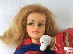 Vintage Ideal Comic Heroines Super Queen Supergirl Doll With Krypto Dog