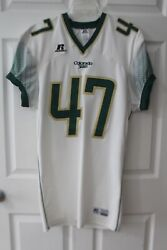 Colorado State Rams 47 White College Football Russell Jersey Size L Ec Long