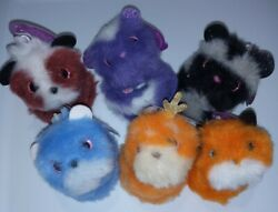 Lot Of 6 Pomsies Plush Toy Series 1 - Daisy Dash Scout Chewy Autumn Moon