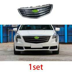 Fit For 2018-2020 Cadillac Xts Silver Front Center Mesh Grille Grill Cover Trim