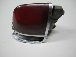 54-56 Cadillac Lh Tail Light Assembly Housing Lens Fuel Door Guide R5-54