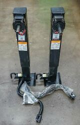 Pair of Bulldog Trailer Jacks Static 12000lb. Capacity 10000 lb. Lift