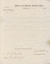John Mitchell Withers - Manuscript Document Signed 02/02/1865