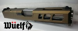 G19 Glock 19 Gen 3 Slide Omega Series Complete Upper w SS Barrel in Burnt Bronze