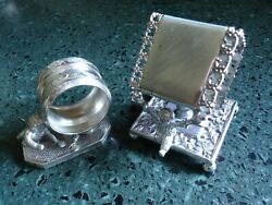 2 Antique Victorian Napkin Rings Silver Plate Rogers And Smith Wilcox /cupid