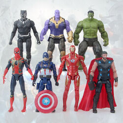 Avengers Action Figures Toy Set 7 Pcs Hero IronMan Hulk Spiderman Thanos Thor