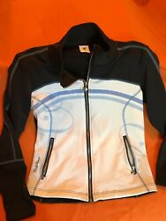 Daily Sports From Sweden Women's Camille White And Black And Blue Jacket In Medium