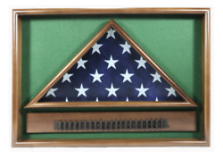 Police And Fire Man Retirement Flag Display Case Shadow Box
