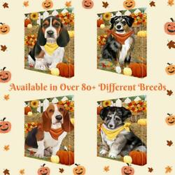 Fall Autumn Greeting Dog Cat Pet Lovers Canvas Wall Art Décor 24x36 In