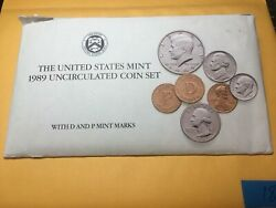 1989 P And D Uncirculated United States Us Mint Coin Set