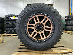 18 18x9 Bronze Vision Manx Rims Wheels 33 Mt Tires 6x135 Ford F150 Expedition