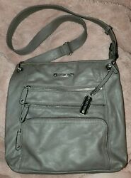 Rosetti Go Alice Crossbody messenger Faux Leather PurseHandbagTote grey med $10.00