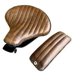 2010-2021 Harley Sportster Seat Spring Solo Brown Dist Tuck Roll Leather Chopper