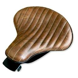 2007-2009 Harley Sportster Seat Spring Solo Brown Distressed Tuck Roll Leather C