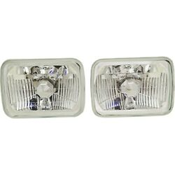New Headlights Driving Head Lights Headlamps Set Of 2 Olds Chevy Pair