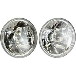 Round Sealed Low Beam Headlights Headlamps Pair Set For Chevy Pickup Truck Car