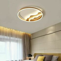 Indoor Ceiling Lights Living Room Remote Control Gold Color Led Household Lamps