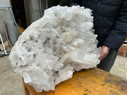 97lbs Clear White Quartz Cluster Crystal Wand Point Healing Mineral Specimen